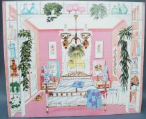 Lundby Petra # 61508 - Play-House - Spare Part Printed Cardboard Sleeping Room 29 cm Doll