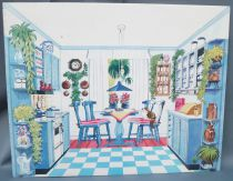 Lundby Petra # 61588 - Play-House Extension - Spare Part Printed Cardboard Kitchen 29 cm Doll