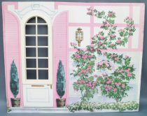 Lundby Petra # 61588 - Play-House Extension - Spare Part Printed Cardboard Living Room Wall 29 cm Doll