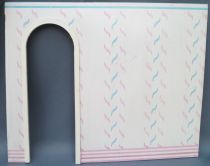 Lundby Petra # 61588 - Play-House Extension - Spare Part Printed Cardboard Partition Wall 29 cm Doll