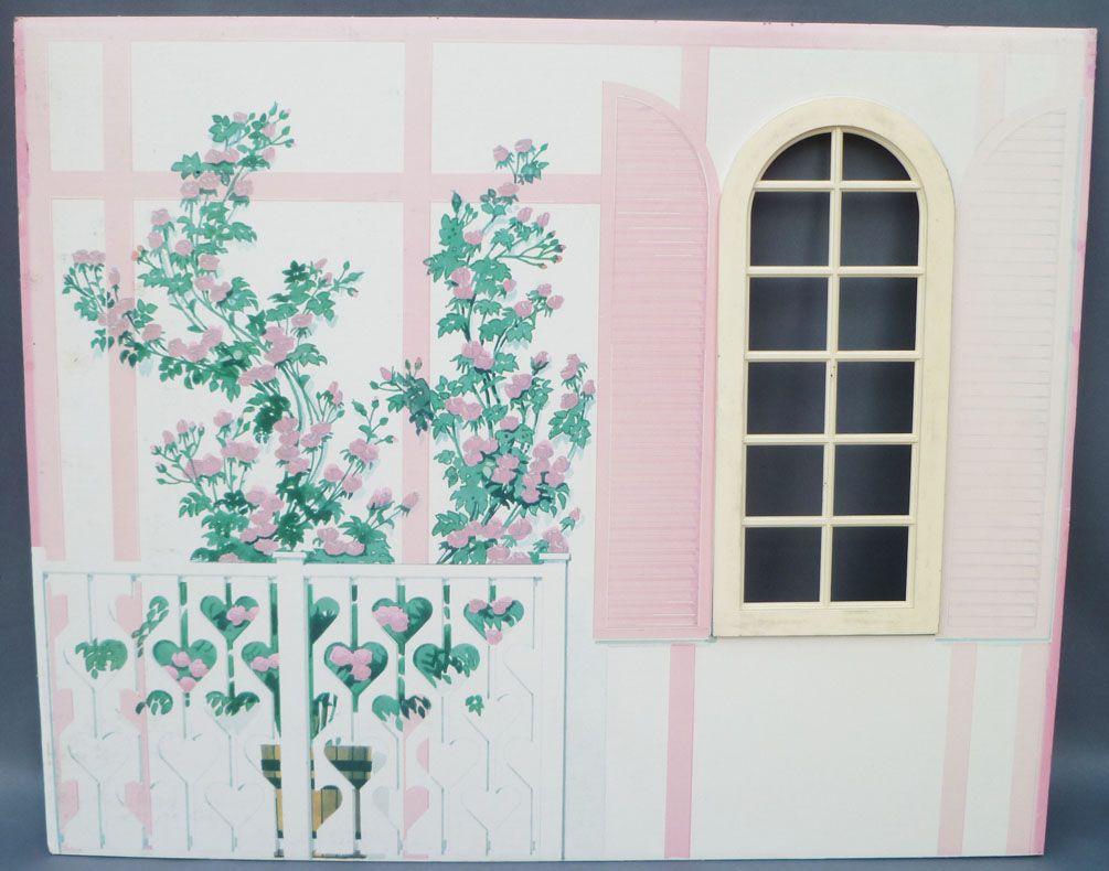 Décor Salle De Jeux lundby petra réf 61508 - maison des jeux - pièce détachée carton décor mur  extérieur salle de bain poupées 29 cm