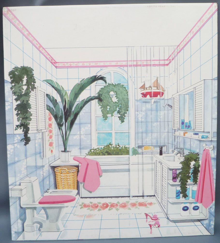 Décor Salle De Jeux lundby petra réf 61508 - maison des jeux - pièce détachée carton décor  salle de bain poupées 29 cm