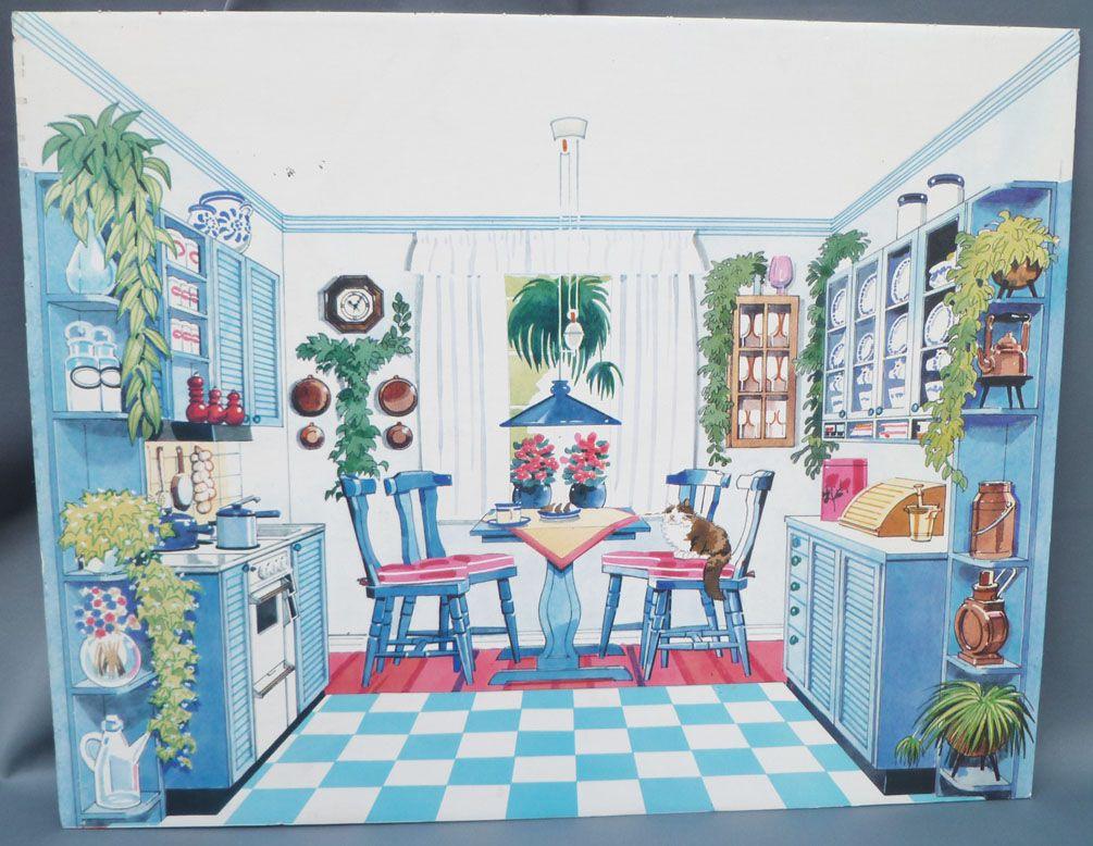 Lundby Petra Réf 61588 - Étage Supplémentaire Maison des Jeux - Pièce Détachée Carton Décor Cuisine Poupées 29 cm