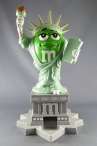 M&M\'s candy dispenser - Green Ms Liberty Statue