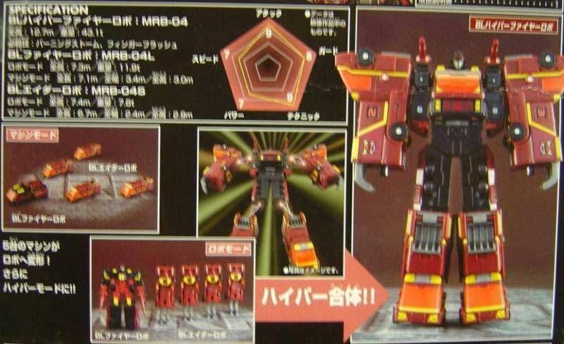 Machine Robo Rescue - MRR-09 BL Hyper Fire Robo
