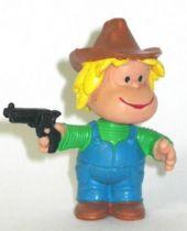 Mafalda Miguelito with gun (blue) Comics Spain pvc figure