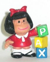 Mafalda with cubes (red) Comics Spain pvc figure