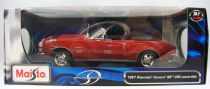 Maisto Special Edition 1967 Chevrolet Camaro SS 396 Convertible 1:18 scale (Diecast Metal)
