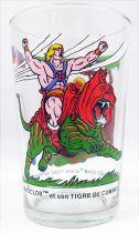 Maîtres de l\'univers - Verre Amora - Musclor & Tigre de Combat / Prince Adam & Cringer