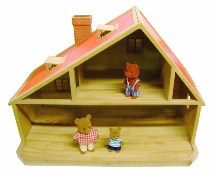 Mapletown Sylvanian Families Deluxe House 1 Floor With Roof Windows 20 Inches Bandai Epoch