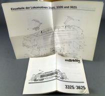 Märklin 3325 3326 3625 Ho Loco BB 7200 Manual & Spare Parts List