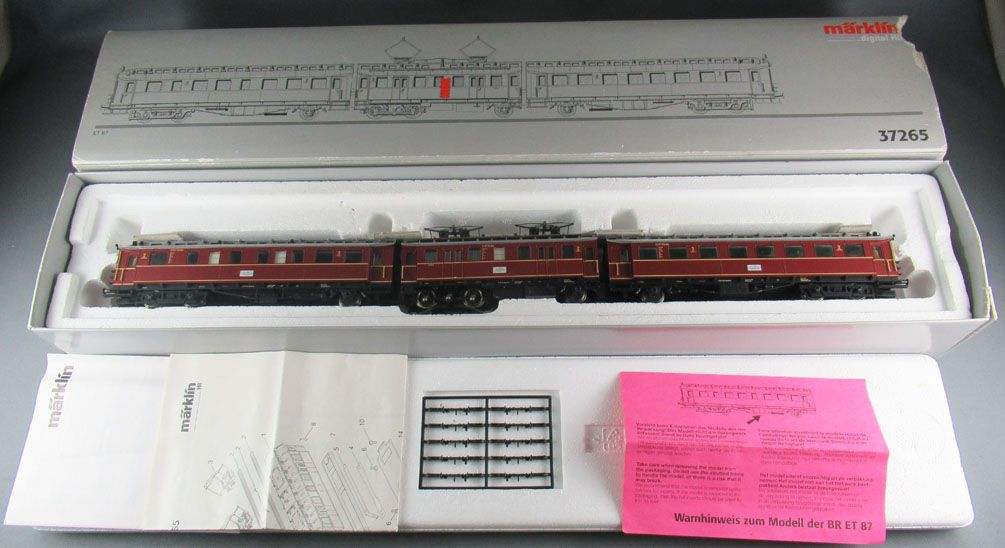 Märklin 37265 Ho 3 Rails DB Rame Automotrices Electrique 3 Eléments ET 87 Digital Neuf Boite