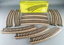 Märklin 5100 Ho M Track 10 x Curved Section 360mm 30° Mint in Box