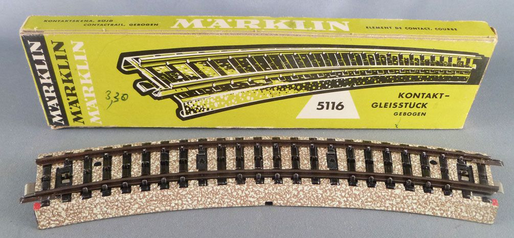 Märklin 5116 Ho Sncf Voie M Rail de Contact Courbe 30° Neuf Boite