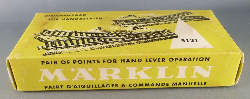 Märklin 5121 Ho M Track 2 x Hand Control Points Right + Left Mint in Box
