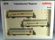 Märklin 84785 Ho Sbb Cff Ffs Coffret 3 Wagons Hbils-vy Feldschlösschen Neuf Boite