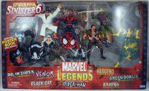 """Marvel Legends - \""""Sinister 6\"""" set : Dr. Octopus, Kraven, Electro, Green Goblin, Black Cat, Venom, Spider-Man"""