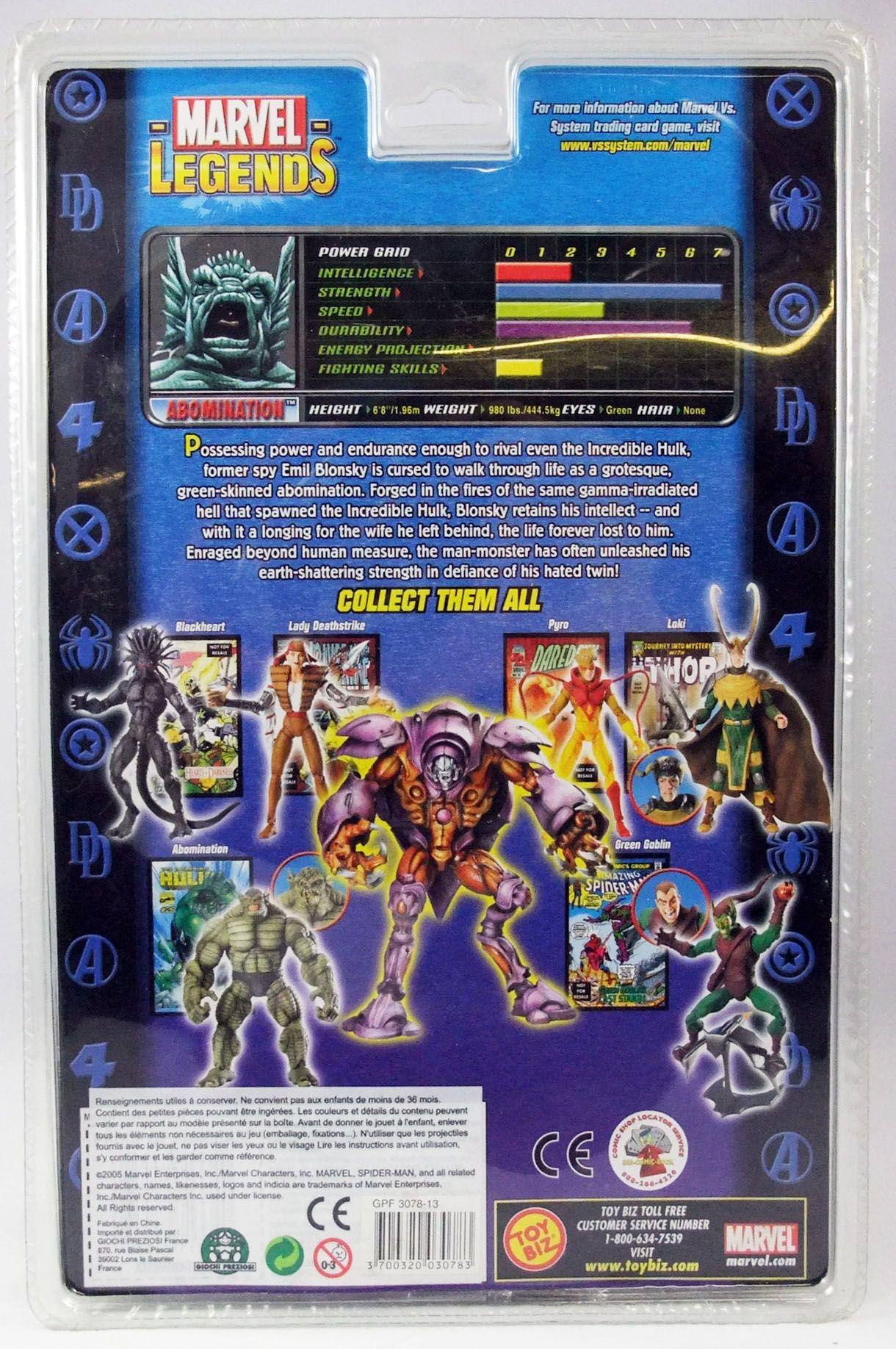 Marvel Legends - Abomination (variante) - Serie 13 Onslaught Serie