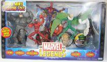 "Marvel Legends - Coffret \""Spider-Man\'s Fearsome Foes\"" : Rhino, Carnage, Vulture, Lizard, Spider-Man"