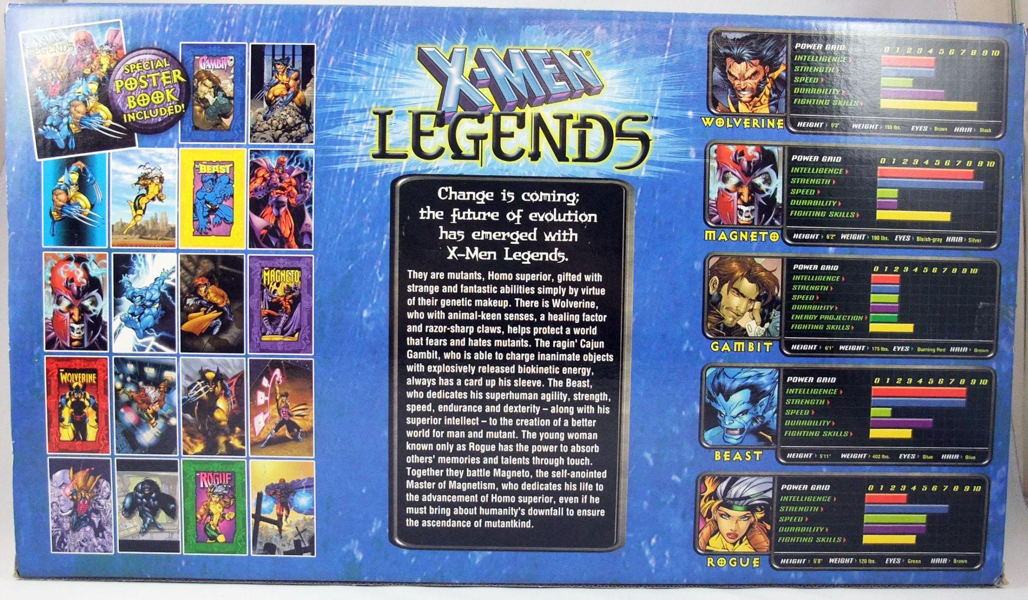 "Marvel Legends - Coffret \""X-Men Legends\"" : Gambit, Rogue, Beast, Magneto, Wolverine - ToyBiz"