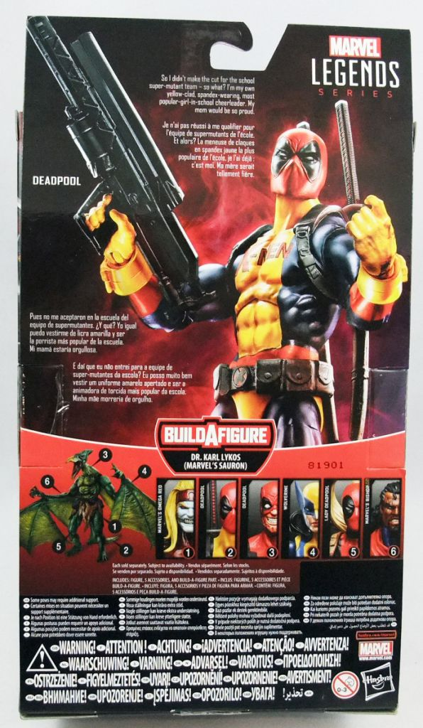 "Marvel Legends - Deadpool ""X-Men costume\"" - Series Hasbro (Sauron)"