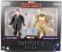 Marvel Legends - Happy Hogan & Iron man Mark XXI (The Infinity Saga) - Serie Hasbro