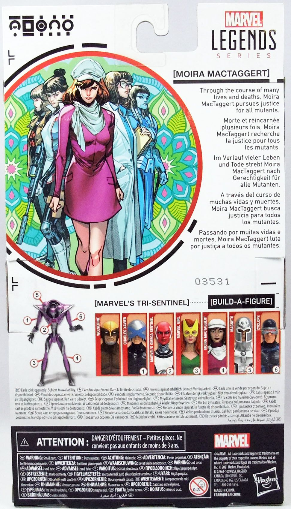 Marvel Legends - Moïra MacTaggert - Serie Hasbro (Tri-Sentinel)