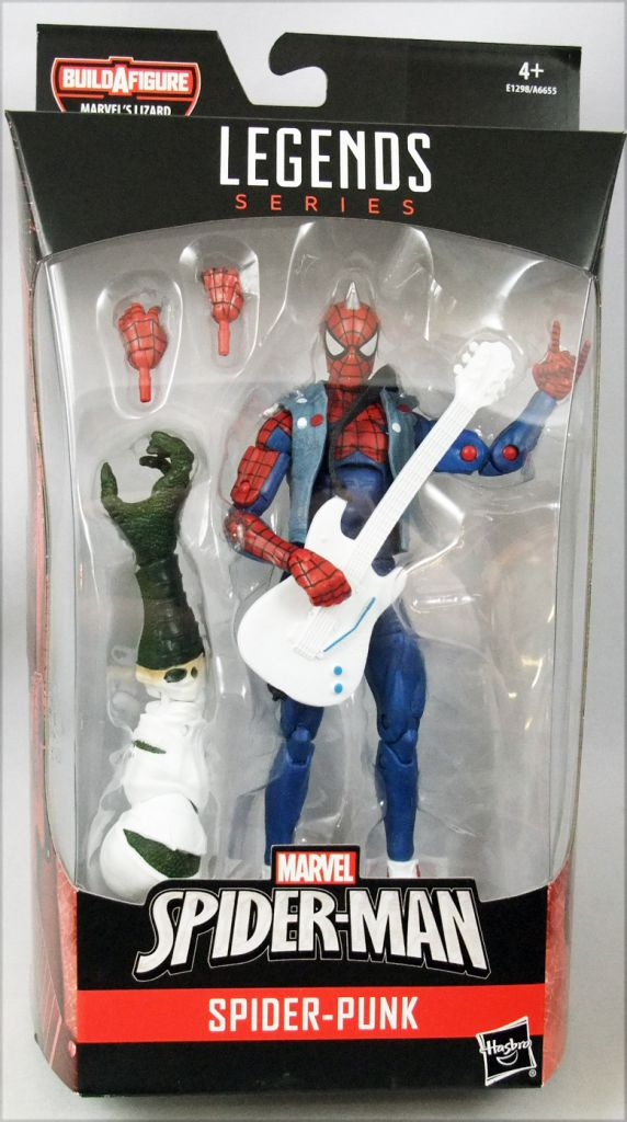 MARVEL LEGENDS SPIDER-MAN SERIES SPIDER-PUNK BUILD-A-FIGURE LIZARD HASBRO