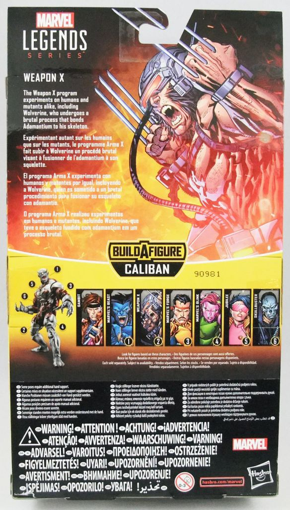 Marvel Legends - Weapon X - Serie Hasbro (Caliban)