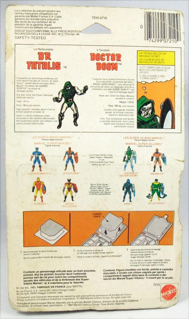 Marvel Secret Wars - Dr. Doom (Europe card)
