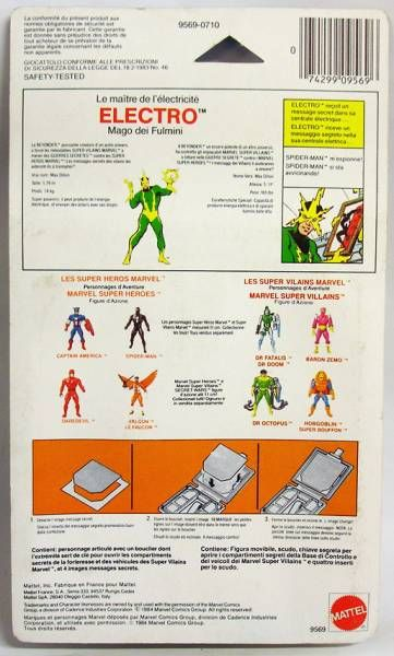 Marvel Secret Wars - Electro (Europe card)