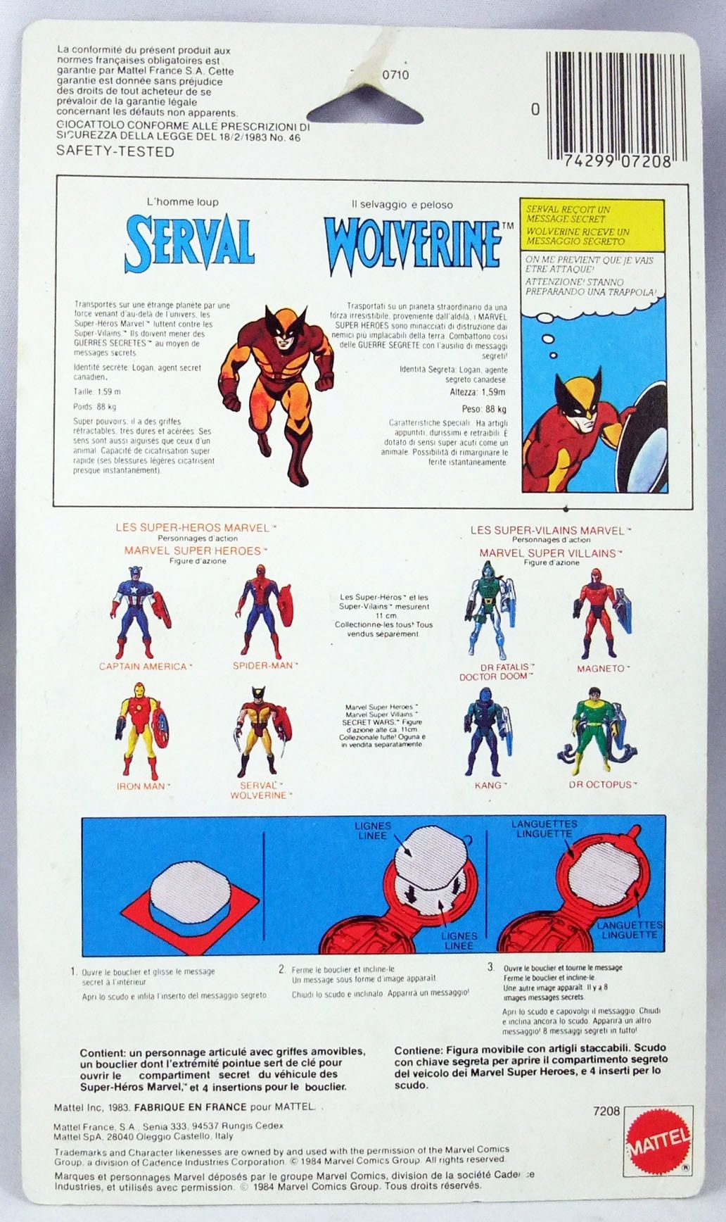 Marvel Secret Wars - Wolverine (loose with cardback) - Mattel