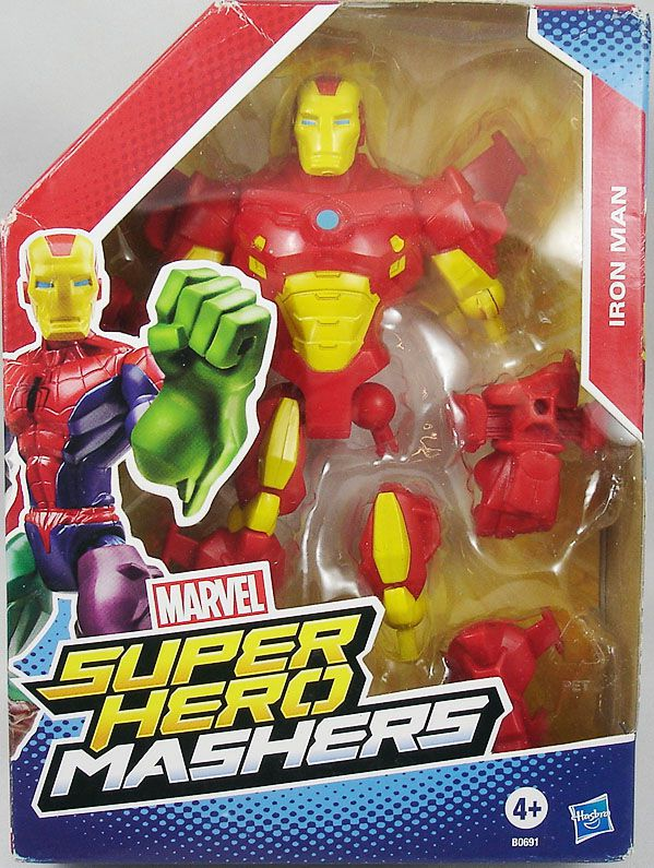 """Marvel Super Hero Mashers - Iron Man \""""red & yellow armor\"""""""