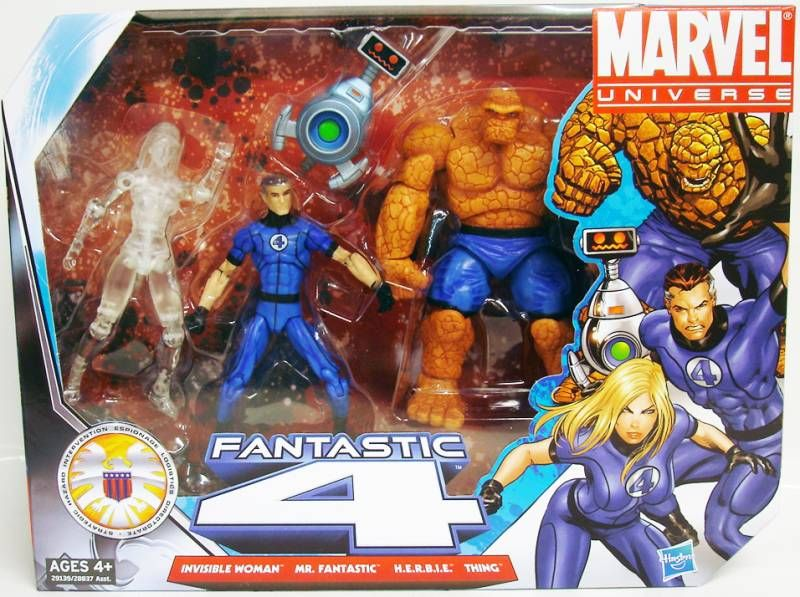 Marvel Universe Multi-Pack - Fantastic Four :  Invisible Woman (variante), Mr. Fantastic, H.E.R.B.I.E., Thing
