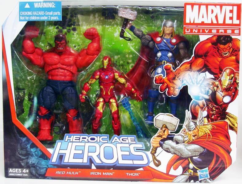 Marvel Universe Multi-Pack - Heroic Age Heroes : Red Hulk, Iron Man, Thor