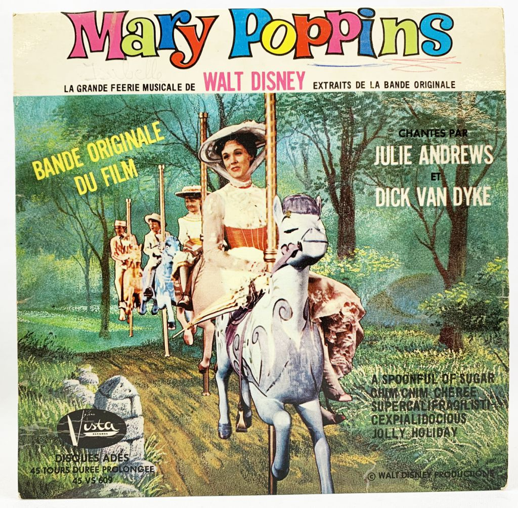 Mary Poppins - Buena Vista 45T Vinyl Record - Original Movie Soundtracks