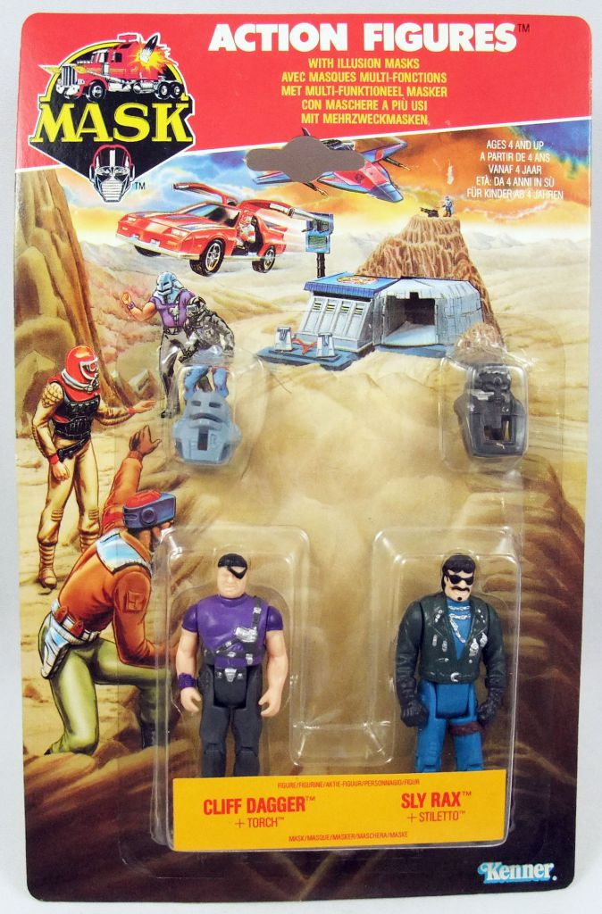 M.A.S.K. - Action Figures - Cliff Dagger & Sly Rax
