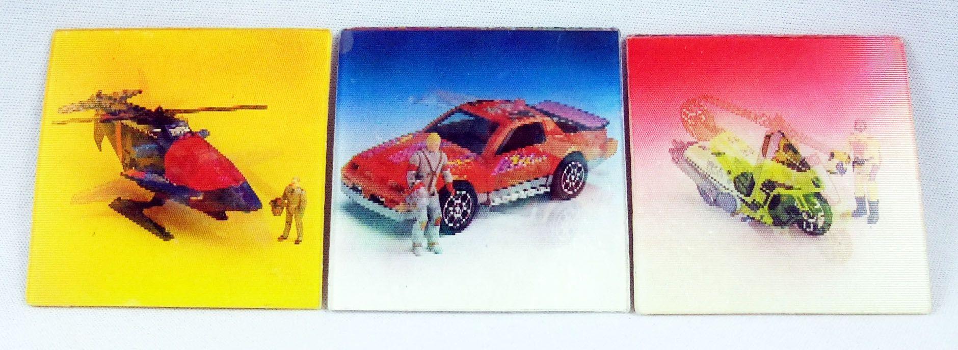 M.A.S.K. - Set de 3 images lenticulaires promotionelles : Switchblade, Thunderhawk, Condor - Kenner