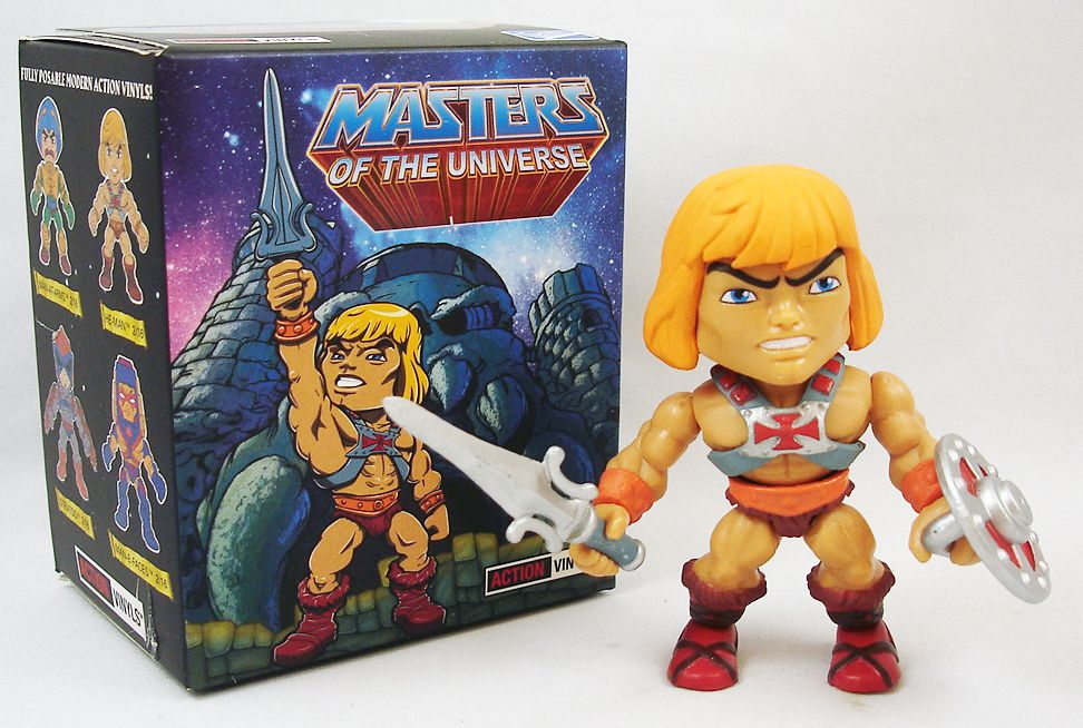 """Masters of the Universe - Action-vinyl - He-Man \""""wave 1\"""" - The Loyal Subjects"""