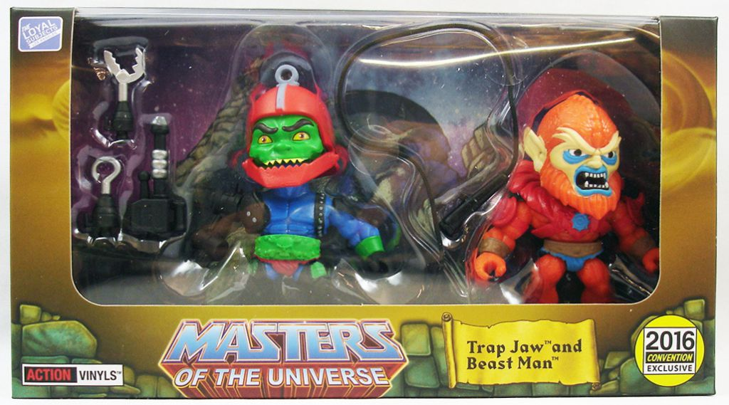 Trap jaw, Tri-Klops, MAN-E The Loyal Subjects Masters of the Universe Lot de 3