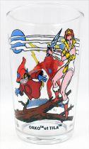 Masters of the Universe - Amora glass - Beast-Man / Teela & Orko