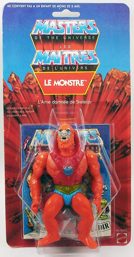 Masters of the Universe - Beast Man / Le Monstre (carte 8-back France)