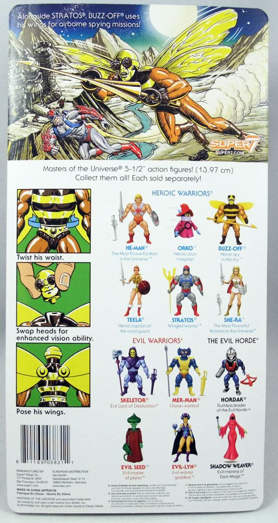 Masters of the Universe - Buzz-Off (Filmation New Vintage) - Super7