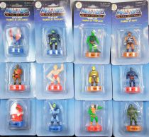 Masters of the Universe - Complete set of 12 stamper figures (Series 1) - Mattel