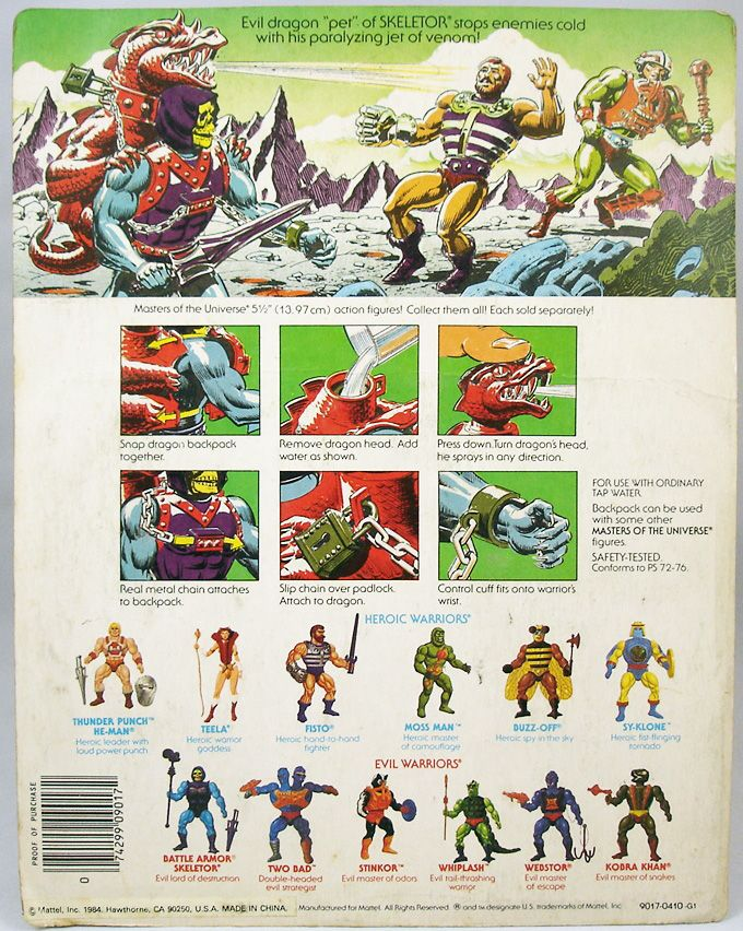 Masters of the Universe - Dragon Blaster Skeletor  Skeletor Paralyzor carte USA (1)