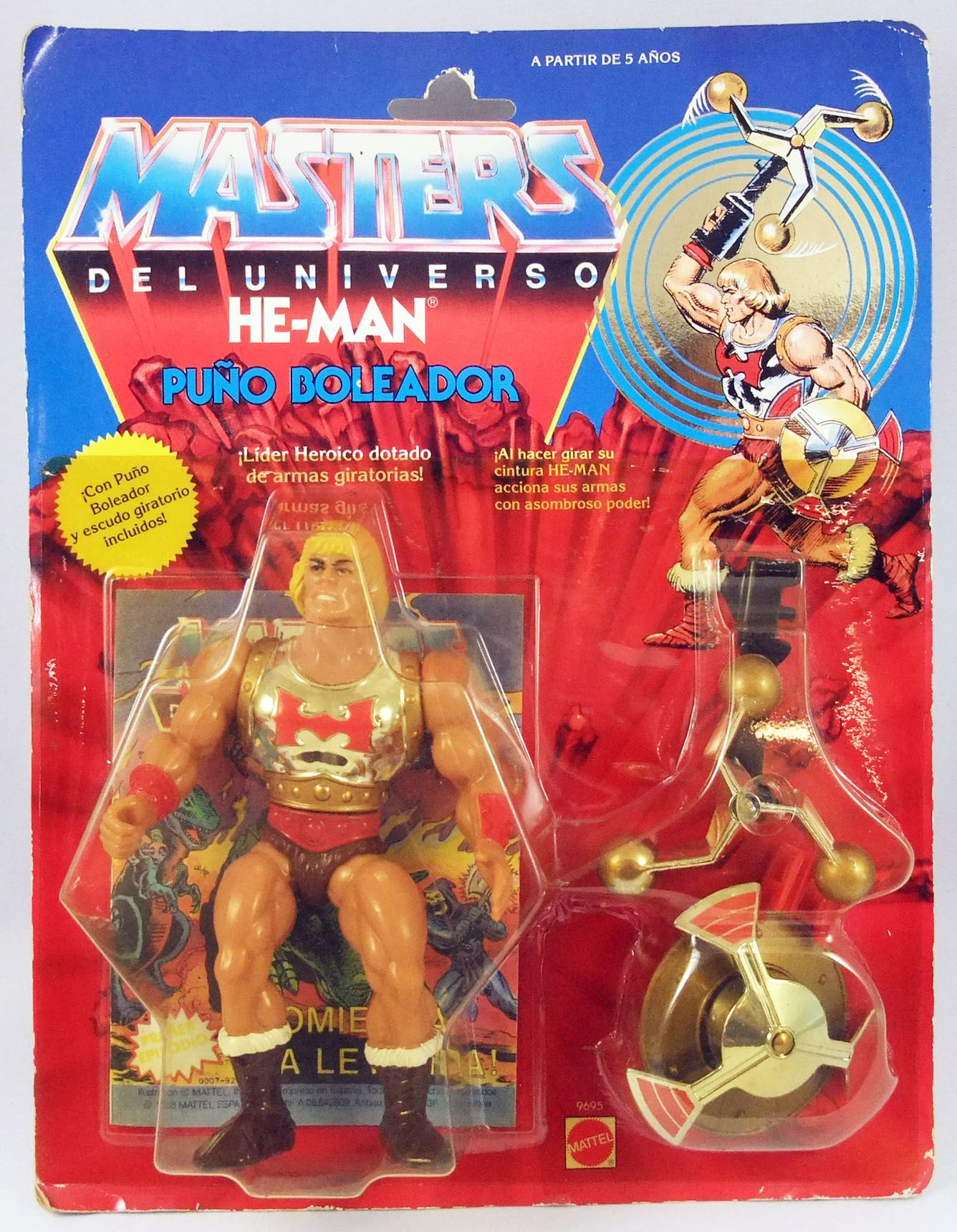 Masters of the Universe - Flying Fists He-Man / Musclor l\'Eclair (carte Espagne)