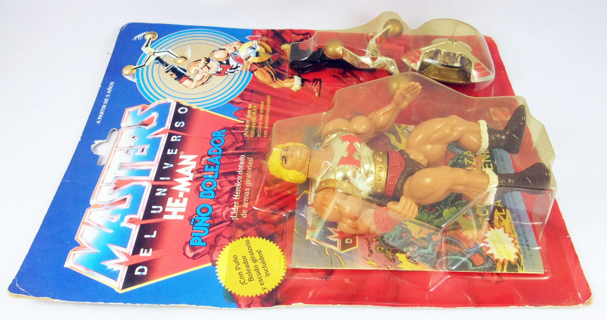 Masters of the Universe - Flying Fists He-Man Puño Boleador (Spain card)