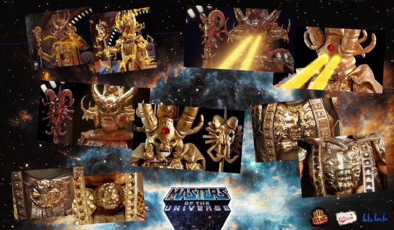Masters of the Universe - Golden God Skeletor / Skeletor Tout Puissant (carte USA) - Barbarossa Art