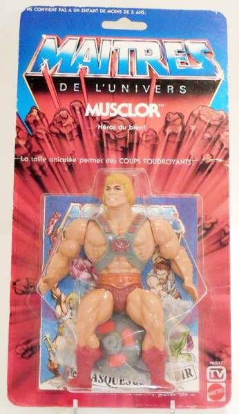 Masters of the Universe - He-Man / Musclor (carte 6-back TV France)