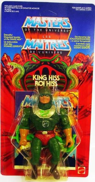 Masters of the Universe - King Hiss (Euro card)